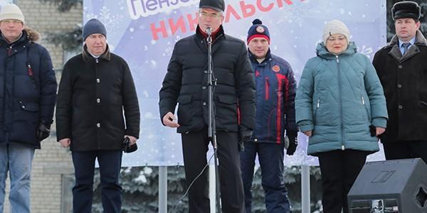 Открытие зимних сельских спортивных Игр прошло в городе Никольске Пензенской области