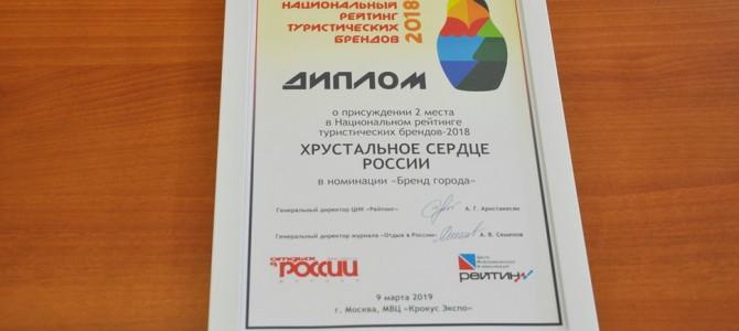 Бренд «Хрустальное сердце России» занял второе место в номинации «Бренд города»